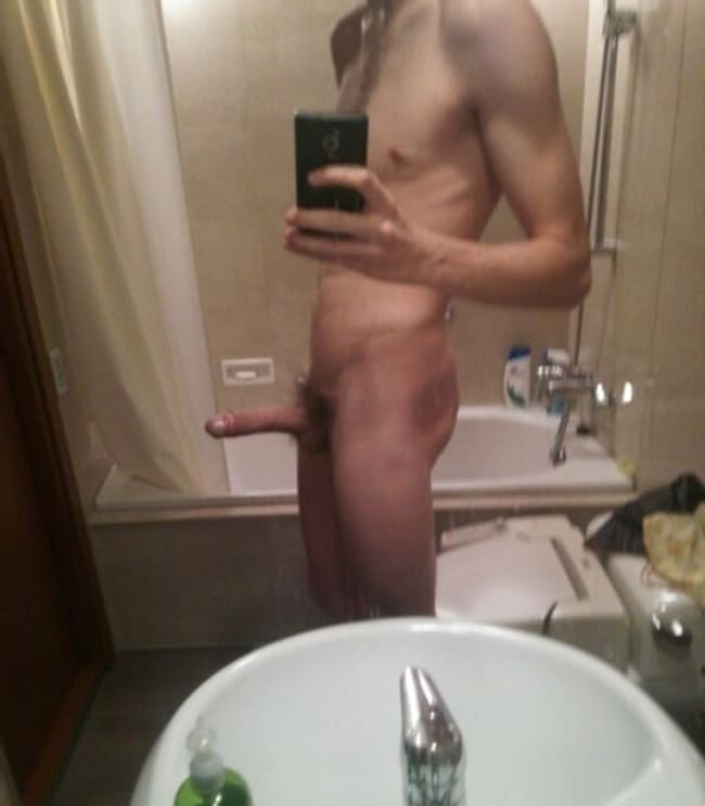 Slim Nude Twink With Hard Cock