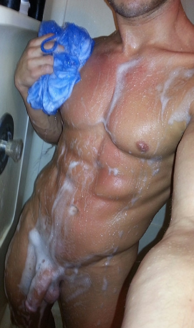 Nude Man Shower