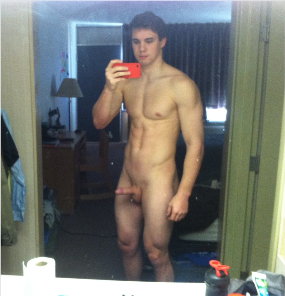Nude Muscle Boy With Hard Penis - The Cock Collector