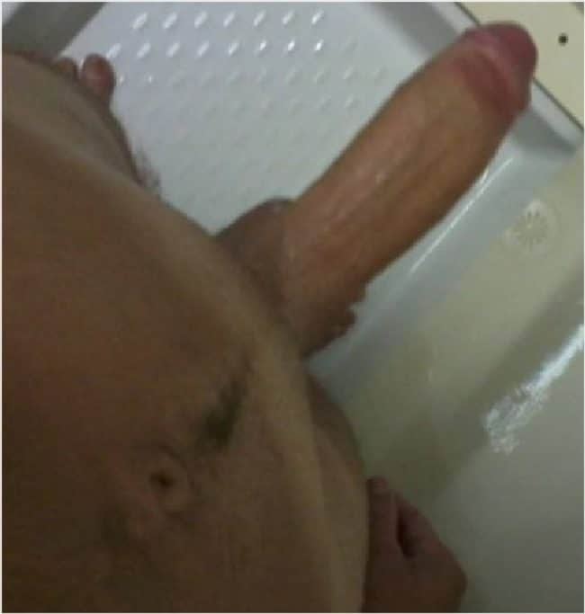 In cock shower withbig housemate